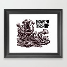 Zombie Monster Mashup Framed Art Print