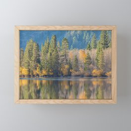 Autumn landscape Framed Mini Art Print