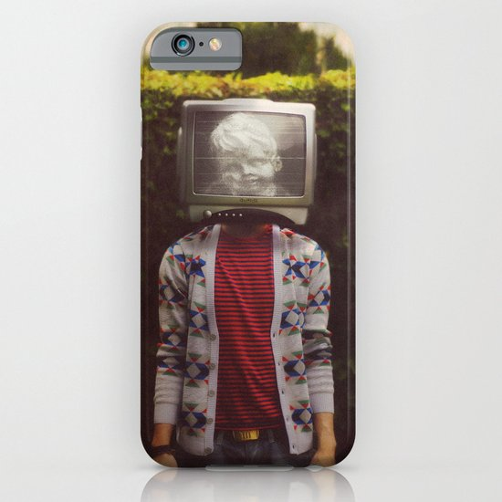 This TV haze sucks me through. I watch the world from the inside iPhone & iPod Case