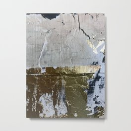 Elegantly Rough: an abstract, minimal piece in gold, pink, black and white by Alyssa Hamilton Art Metal Print