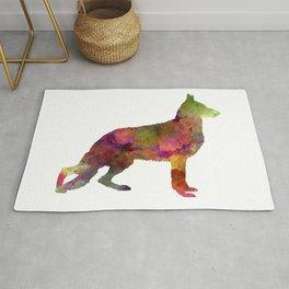 German Sherpherd dog 01 watercolor 2 Rug