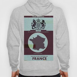 France vintage worn style map poster Hoody