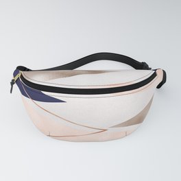 Rose gold french navy geometric Fanny Pack