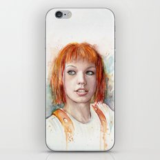 Leeloo Portrait Fifth Element Art iPhone & iPod Skin
