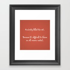 Proverbs: Curiosity Framed Art Print