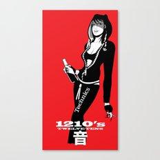 Twelve Tens - Red Canvas Print