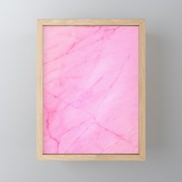 Blush Pink Marble Framed Mini Art Print