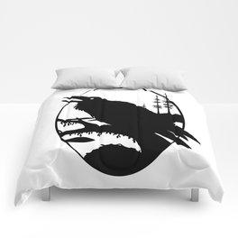 Raven Silhouette IV Comforters