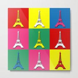 Pop art Paris Metal Print