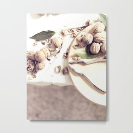 Kitchen, food still life, macro photo, interior design, home decoration, wall, house, food porn Metal Print