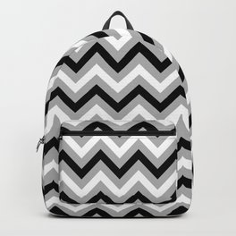 Chevron Pattern - black and grey - more colors Backpack