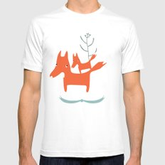 Love me love my foxes.  White Mens Fitted Tee MEDIUM
