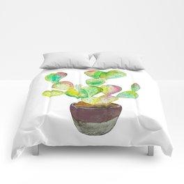 Watercolor Cactus- Comforters