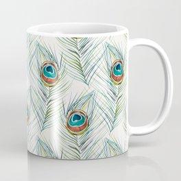 Peacock Tail Feather – Watercolor Coffee Mug