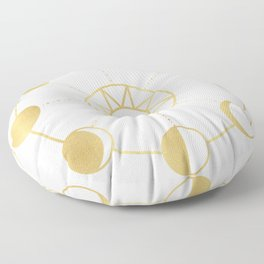 Gold Moon and Sun Phases Floor Pillow