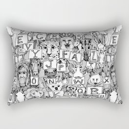 animal ABC black white Rectangular Pillow