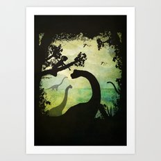 My Friends the Dinosaurs Art Print