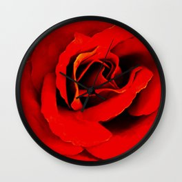 Red Red Rose Flower A218 Wall Clock