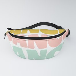 Dance in Candy Pastel Lettering Fanny Pack