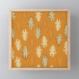 Falling Leaves and Stripes Framed Mini Art Print