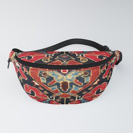 Qashqa'i Antique Fars Persian Bag Face Print Fanny Pack