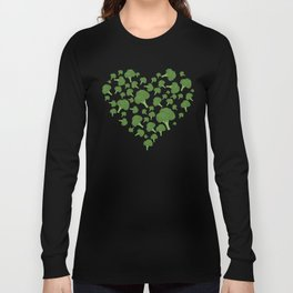 I Love Broccoli Long Sleeve T-shirt