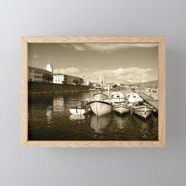 Coastal town Framed Mini Art Print