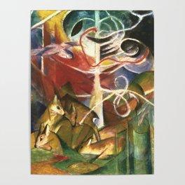 "Franz Marc ""Deer in the Forest I"" Poster"