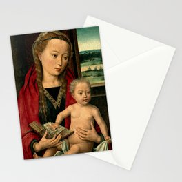 """Hans Memling """"Virgin and Child"""" (1) Stationery Cards"""