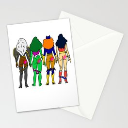Superhero Butts Love 2 - Team Girls Stationery Cards