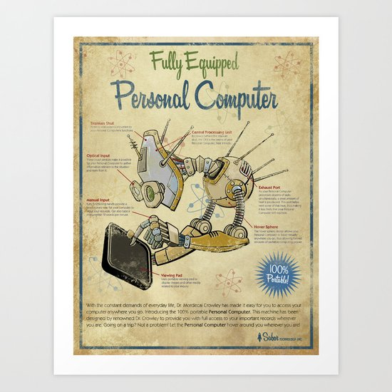 Retro Personal Computer Art Print