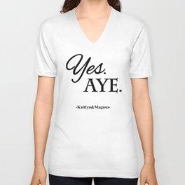 Yes. Aye. Unisex V-Neck