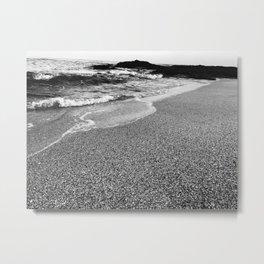 First Light Waves, B&W Metal Print