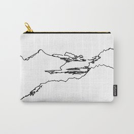 Hurricane Ridge One Line - Olympic National Park Washingon State Carry-All Pouch