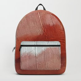 Desert Journey [2]: a textured, abstract piece in pinks, reds, and white by Alyssa Hamilton Art Backpack