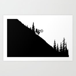 MTB 2tone Art Print