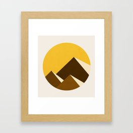 Abstraction_Mountains_YELLOW_001 Framed Art Print