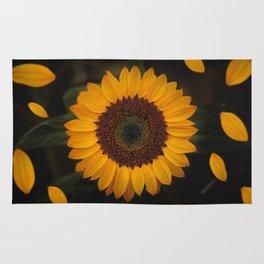 Sunflower yellow green Rug