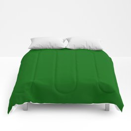 Emerald Green - solid color Comforters