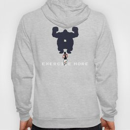 Exercise more. A PSA for stressed creatives. Hoody