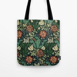 William Morris Compton Floral Art Nouveau Pattern Tote Bag