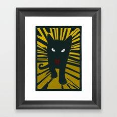 Evil Cat Framed Art Print