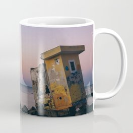 Isla Holbox Fisherman Ruins at Sunset Coffee Mug