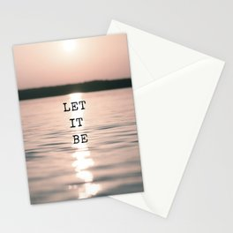 Let It Be 2 #quotes Stationery Cards
