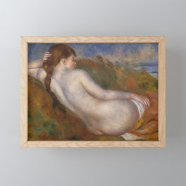 "Pierre-Auguste Renoir ""Reclining nude"" Framed Mini Art Print"