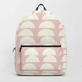 Simple and Modern Half Circle Shapes in Blush and Cream Backpack