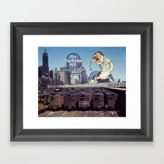 Attack of the 50 Foot Hipster Framed Art Print