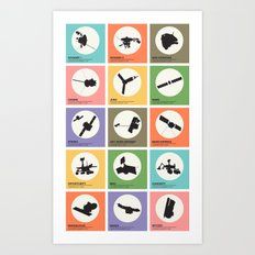 Space Probes Art Print