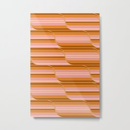 Geo Stripes - Butterscotch Metal Print