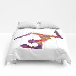 Rhythmoc Gymnastics woman silhouette Comforters